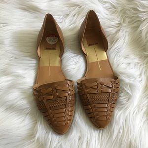 Dolce Vita Shoes - DOLCE VITA Tan Leather Woven Flat Sandals NEW 7.5